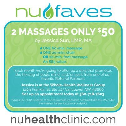 $50 massage deal!