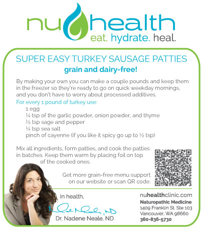 NuHealth-Naturopath-Vancouver-WA-RECIPES-turkey-sausage-patties