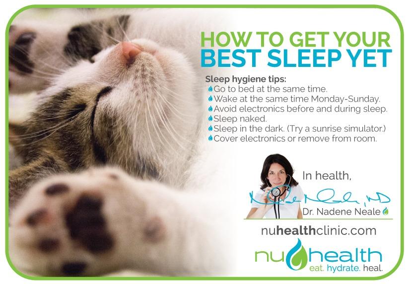 nuHealth clinic Dr. Nadene Neale Vancouver Wa Naturopath Sleep Hygiene