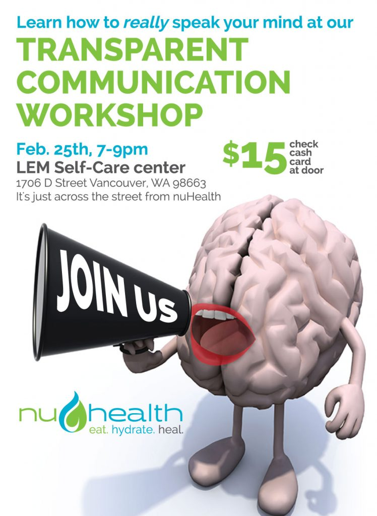 nuHealth clinic Dr. Nadene Neal Vancouver Wa Naturopath communication workshop 2